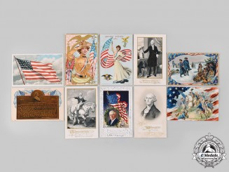 United States. Ten Patriotic Postcards
