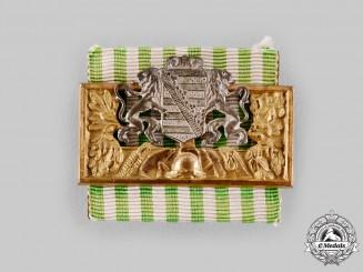 Saxony, Kingdom. A Fire Brigade 25-Year Long Service Badge, c.1900