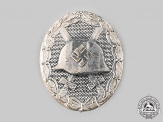 Germany, Wehrmacht. A Wound Badge, Silver Grade, by Klein & Quenzer