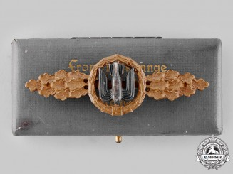 Germany, Luftwaffe. A Bomber Flight Clasp, Bronze Grade, with Case