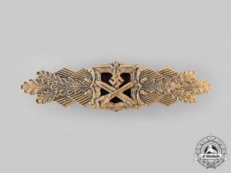 Germany, Wehrmacht. A Close Combat Clasp, Gold Grade, by Arbeitsgemeinschaft Metall und Kunststoff