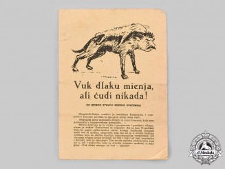 Croatia, Independent State. An Anti-Soviet Propaganda Leaflet
