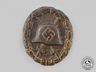 Germany, Wehrmacht. A Field-Made Wound Badge, Gold Grade