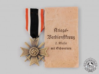 Germany, Wehrmacht. A War Merit Cross, II Class with Swords, by Lind & Meyrer