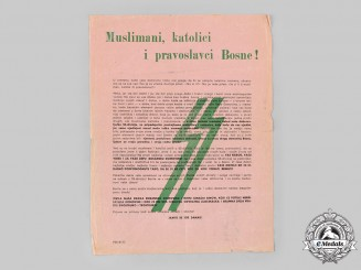 Germany, SS. A Bosnian SS Recruiting Pamphlet