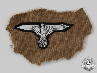 Germany, SS. A SS Officer's Sleeve Eagle, Belsen Uniform Removed