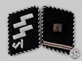 Germany, SS. A Rare Set of SS Bad Tölz Training School Scharführer Collar Tabs