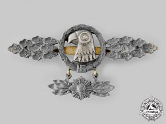 Germany, Luftwaffe. A Reconnaissance Squadron Clasp with Hanger, Gold Grade