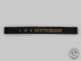 Germany, Imperial. A SMS Deutschland Cap Tally Ribbon