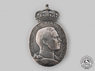 Saxe-Coburg and Gotha, Duchy. A Silver Duke Carl Eduard Medal with Crown, c.1915