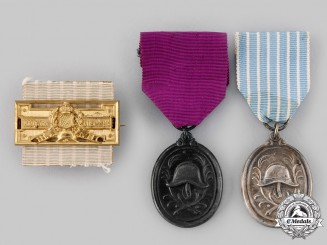 Germany, Weimar Republic. A Lot of Fire Brigade Long Service Medals