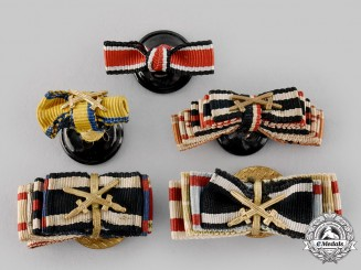 Germany. A Lot of Medal Ribbon Boutonnieres