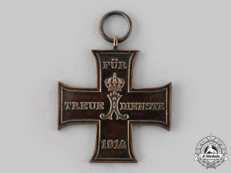 Schaumburg-Lippe, Principality. A 1914 Cross for Loyal Service, c.1914
