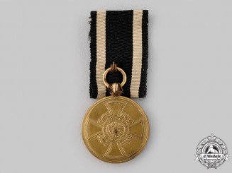 Prussia. A Hohenzollern Service Medal, c.1848