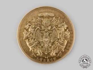 Germany, Weimar Republic. A 1923 Free City of Lübeck Faithful Service Medal, to Marie Luise Schreep, by Berliner Medaillen-Münze
