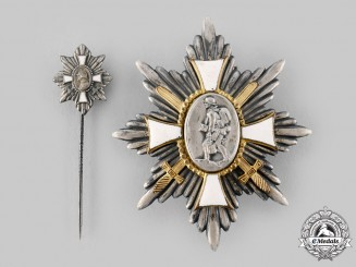 Germany, Imperial. A Campaign Badge of Honour with Miniature, c.1925