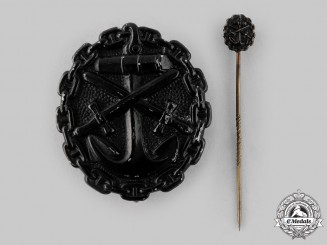 Germany, Kingdom. A Wound Badge for Naval Members, Black Grade, c.1918
