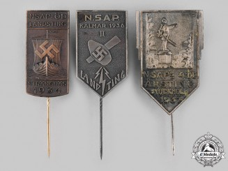 Sweden, Kingdom. A Lot of Swedish National Socialist Workers' Party (NSAP) Meeting Badges