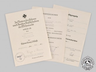Germany, Heer. A Lot of Award Documents to Senior Lance Corporal Heinrich Appel (WIA)