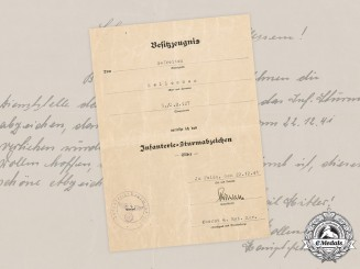 Germany, Wehrmacht. A Pair of Documents, 5th Company of the Infantry Regiment 527