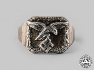 Germany, Luftwaffe. A Silver Luftwaffe Commemorative Ring