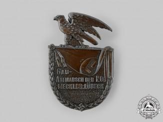 Germany, NSDAP. A Gau Mecklenburg-Lübeck NSDAP Deployment Badge by Paul Schulze & Co.