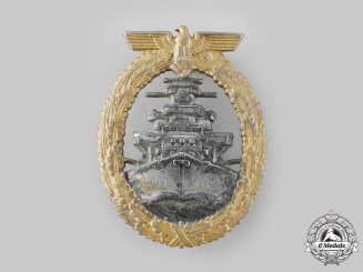 Germany, Kriegsmarine. A High Seas Fleet Badge, by Steinhauer & Lück
