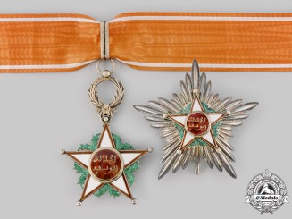 Morocco, Kingdom. An Order of Ouissam Alaouite, II Class Grand Officer, by Arthus Bertrand, c.1945