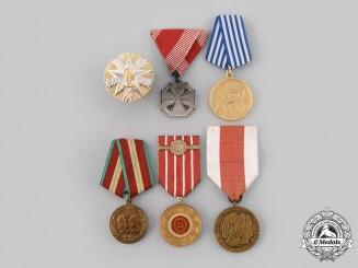 Austria, Poland, Romania, Russia, Yugoslavia. Lot of Six Awards