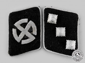 Germany, SS. A Set of 11th Volunteer Panzergrenadier Division Nordland Sturmführer Collar Tabs