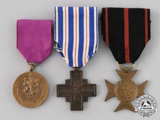 Czechoslovakia, Republic, Socialist Republic. Three Medals