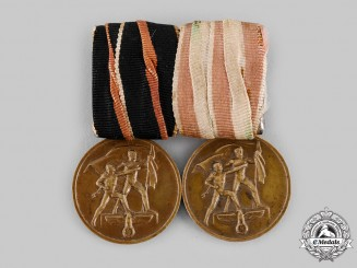 Germany, Third Reich. A Memel Medal Pairing