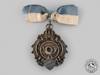 Bavaria, Kingdom. A Post and Telegraph Service Membership Badge by Lindner
