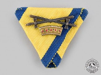 Austria, Imperial. An Order of the Iron Crown, Ribbon with II Class Small Decoration with Swords (Collectors Copy)