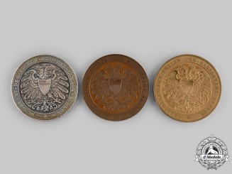 Lubeck, Free City. A Lot of State Award Table Medals, c.1890