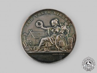Lubeck, Free City. A Table Medal for Faithful Service in the Agricultural Chamber of Lubeck, c.1900