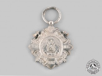 Luxembourg, Duchy. 1882 Federation of Firefighters of the Grand Duchy of Luxembourg Service Medals, c.1882