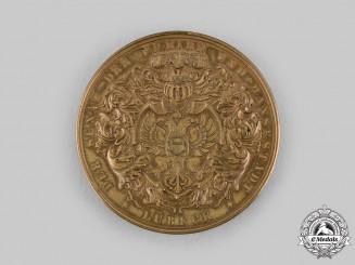 Lubeck, Free City. A Loyalty in the Service Table Medal,to G. A. F. Martens, c.1926