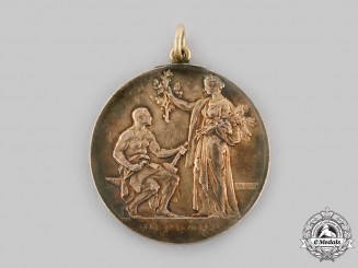 Bavaria, Kingdom. A Medal for Many Years of Loyal Service from the Bavarian Industrial Association, by C. Poellath, c.1910