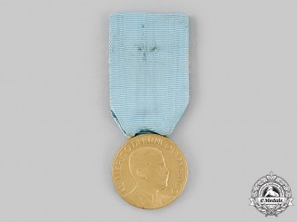 Italy, Kingdom. An Army Long Command Merit Medal, I Class Gold Grade