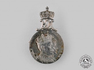 Norway, Kingdom. A  King Haakon VII and Queen Maud Coronation Medal 1906, I Class Silver Grade Medal
