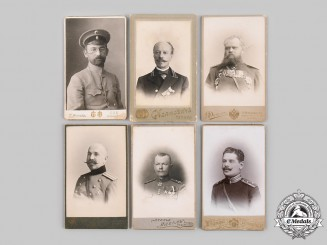 Russia, Imperial. Six Military Studio Photographs