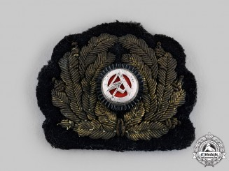 Germany, SA. A Sturmabteilung (SA) Marine Officer's Visor Cap Wreath and Cockade