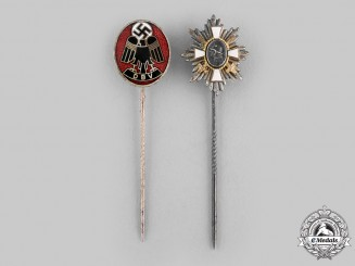 Germany, Third Reich. A Pair of Stick Pins