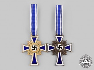 Germany, Third Reich. A Pair of Honour Crosses of the German Mother