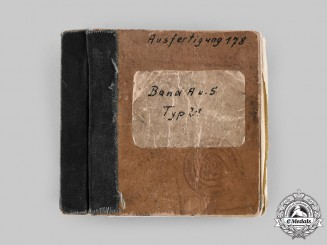 Germany, Kriegsmarine. An Extremely Rare Pocket Manual for a Type XXI U-Boat