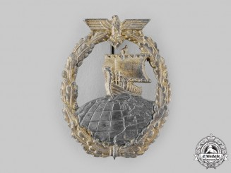 Germany, Kriegsmarine. An Auxiliary Cruiser War Badge by Rudolf Souval