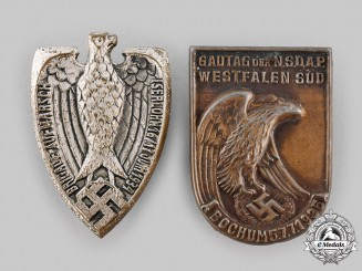 Germany, Third Reich. A Pair of Commemorative Badges