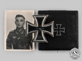 Germany, Wehrmacht. An Early and Scarce 1939 Iron Cross I Class, with Case and Bearer Photograph