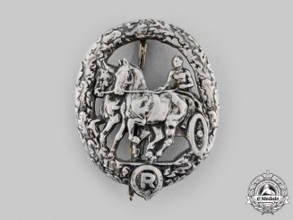 Germany, Third Reich. A Horse Driver's Badge, II Class in Silver, by L. Christian Lauer